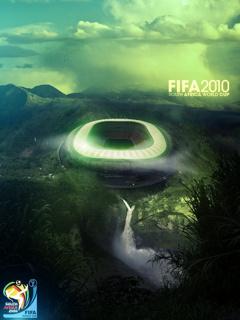 Эта картинка представляет собой один из плакатов чемпионата FIFA 2010